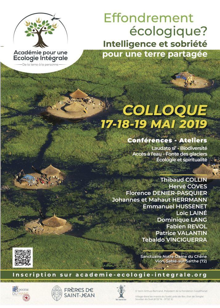 Affiche colloque Academie Ecologie Integrale